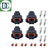 Inyector BMW Plug Conector de 2 Pines Para Bosch Common Rail Diesel Inyectores X 4