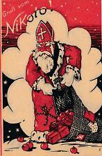 Nikolaus-Karte Gruß vom Nikolo mit Geschenken   (F10)
