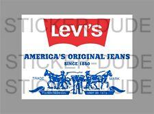 LEVI JEANS STICKER FOR MANCAVE TOOLBOX WELDER BENCH BEER FRIDGE ETC