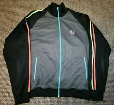 Fred Perry Track jacket Neon stripes and detail size L
