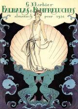 Falbalas et fanfreluches, 1924, GEORGE BARBIER Classic Art Deco Poster