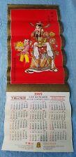 Vintage Chinese Restaurant Calendar 1985