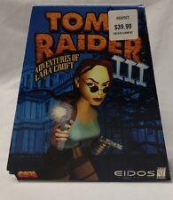 Tomb Raider PC III 3 Lara Croft Game Trapezoid Complete Rare In Box Eidos