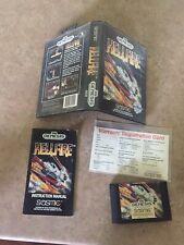 Hellfire Sega Genesis Cib Tested W/Warranty Card. Same Dev As Musha
