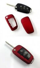 Für Audi Klapp Schlüssel Cover Key Cover Schlüssel Hülle Funk Fernbedienung Rot
