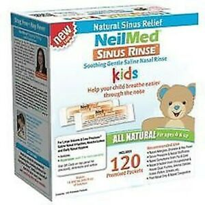NeilMed Sinus Rinse Nasal Apaisant Saline Pour Enfants 120 Sachets Recharge