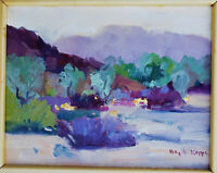 BIRGITTA KAPPE Original OIL California Plein Air Painting SIGNED Desert Landscap