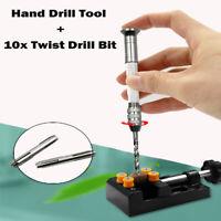 21 Pieces Twist Drill Bits Pin Vise Mini Hand Drill Bit Set Rotary Tools H8I7