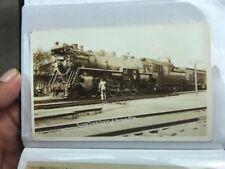 Grand Trunk Western Engine 6038 Durand Michigan Postcard Steam Train Locomotive