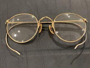 Vintage B&L Bausch & Lomb 1/10 12KGF Ful-Vue Eyeglasses Sunglasses Frames Gold