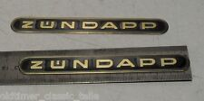 Sticker Tank Zündapp Lettering Black GOLD KS GTS 515 517 442-10.193 SET