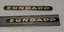 Sticker Tank Zündapp Lettering Black GOLD KS GTS 515 517 442-10.193 SET