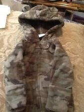 BABY CAMO ONE PIECE ZIP UP OUTFIT WITH EAR HOODIE CHOOSE FROM 3 DIFFERENT SIZES