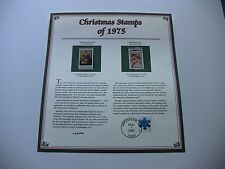 10 Cent Madonna and Child, and Christmas Card 1975 Christmas Stamps