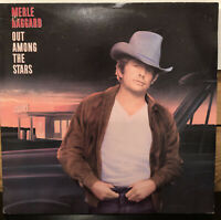 Merle Haggard Out Among the Stars Vinyl LP - 1986, CBS Records FE 40107