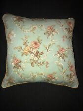 """VTG  Ralph Lauren Tweed Wool & Floral Cotton Throw Pillow Cover ONLY! 16"""" x 17"""""""