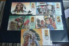 More details for bevil  1996 american indian dances first day covers 3072-76 fabulous