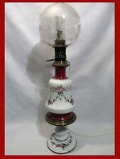 LAMPE A PETROLE PORCELAINE PARIS 19ème LAMP OIL XIXème