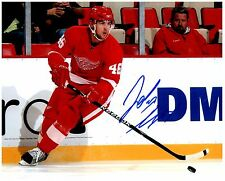 Detroit Red Wings JAKUB KINDL Signed Autographed 8x10 Pic A
