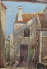 Maison du maire à Périgny sur Yerres Huile sur panneau monogramme Val de Marne