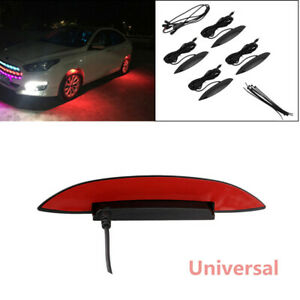4X Car Fender Flares Arch Wheel Eyebrow Protector Red Lamp LED Ambient Light Hot