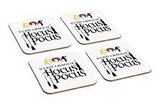Hocus Pocus Artwork 4 Piece Wooden Coaster Set