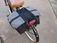 Borse POSTERIORI a bisaccia Colore Nero FANTASIA borsa per city bike bici