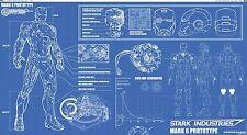 """Ironman Blueprint  poster High Quality Silk wall Poster 44x24"""" KRIT12"""