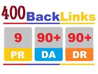 400 Backlinks - Manually Backlink High Authority ranking website SEO google page