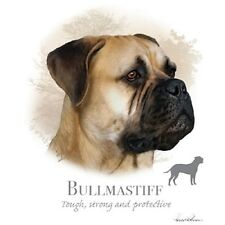 "Bull Mastiff Dog with Phrase on Fabric -One 18"" x 22"" Panel to Quilt-Sew"