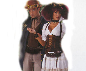 Brown Belt Pouch Steampunk Faux Leather Adult Costume Accessory