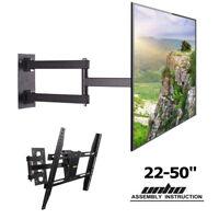 Swing Arm TV Wall Mount Bracket Long Reach Swivel for 22 36 40 43 49 50 inch TVs