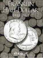 H.E. Harris Franklin Half Dollar Coin Folder 1948-1963 #2695