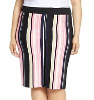Rachel Rachel Roy Womens Skirt Pink Size 1X Plus Striped Stretch Knit $109 422