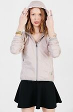 NEW Members Only Packable Nylon Jacket Size Small Pink/Gray Hooded