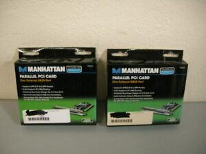 Lot (2) Manhattan Parallel PCI Cards DB25 - 158220 *NEW
