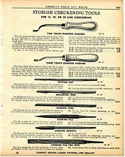 1956 Print Ad of Stoeger Arms Checkering Tools for Shotguns & Rifles