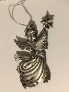Wallace Pewter Angel With Star Ornament
