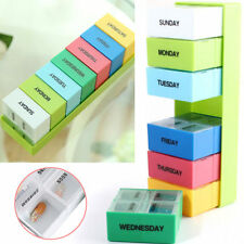 Portable 7 Day Weekly Pill Box Medicine Storage Tablet Organizer Container Case