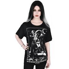 Killstar Gothic Goth Okkult Relaxed Top T-Shirt - Vision Baphomet Pin-Up