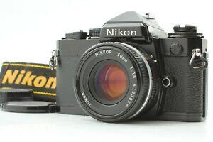 [N MINT w/ Strap] NIKON FE SLR Black model + NIKKOR Ai-s 50mm f/1.8 From JAPAN