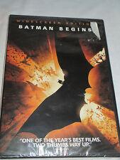 Dvd Batman Begins Widescreen Christopher Nolan Bale Caine Liam Neeson Holmes Nip