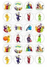 24 Teletubbies Wafer / Rice Paper Cupcake Topper Edible Fairy Cake Bun Toppers