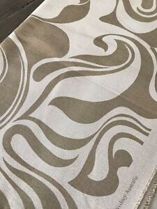 luxury CURLY SWIRLS linen fabric a design by Florence broadhurst printed 4M