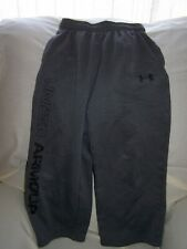 Boys Under Armour Gray Fleece Lined Pants with Pockets Xsmall