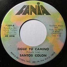 SANTOS COLON: SIEMPRE es SIEMPRE rare LATIN FANIA lounge SLOW 45 hear
