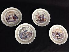 Wow! Vintage Limoges Set of 4 Porcelain Plates. Fait a la main. 1973 & 74