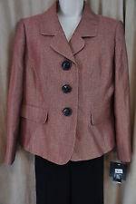 """Le Suit Petite Pant Suit Sz 2P Flame Multi Color """"Urban Escape"""" Business Suit"""