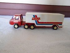 1970'S BUDDY L TRUCK AND TRAILER PRESSED STEEL TOY