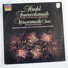 vinyl lp record HANDEL fireworks / water music , raymond leppard ECO